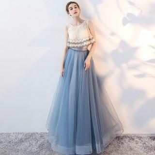 【美品】セパレート風ドレス パーティー演奏会ドレス 二次会 ロングドレス(ロングドレス)