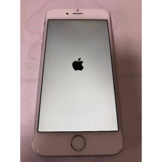 アップル(Apple)のiPhone6 64GBシルバー au 本体のみ、おまけケース(スマートフォン本体)
