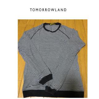 トゥモローランド(TOMORROWLAND)のTOMORROWLAND トゥモローランド シルクボーダーカットソー(Tシャツ/カットソー(七分/長袖))