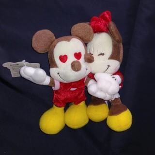 Disney - 非売品 ミッキー&ミニー ちびーず ラブラブぬいぐるみ レッド