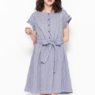 クチュールブローチ(Couture Brooch)の新品未使用 クチュールブローチ ギンガムチェックのワンピース 半袖(ミニワンピース)