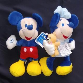 ディズニー(Disney)の非売品 ミッキー&ミニー ステートフェアぬいぐるみ 歩きセットで(キャラクターグッズ)