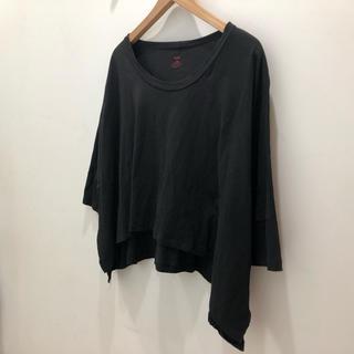 エルエヌエー(LnA)のLNA ケープ Tシャツ ブラック(Tシャツ(半袖/袖なし))