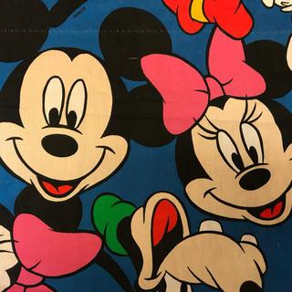 ディズニー(Disney)のa-73 ミキミニ ビンテージシーツ(生地/糸)