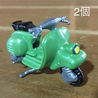 キンダーサプライズ  チョコエッグ  緑のバイク 2個 まとめ売り(スポーツ)