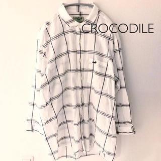 クロコダイル(Crocodile)のCROCODILE 七分袖シャツ Lサイズ クロコダイル (シャツ)