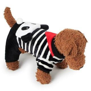 犬ペット服5サイズドッグウェアコーラルフリース(パンダ、XS~XL)(犬)