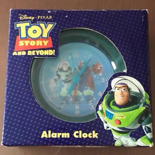 ディズニー(Disney)の【ジャンク品】バズライトイヤー アラームクロック 箱・説明書付(置時計)