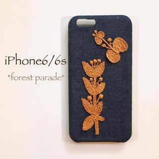 ミナペルホネン(mina perhonen)のforest parade*iPhone6/6s*デニム(スマホケース)