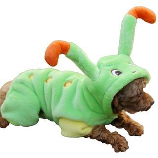 犬ペット服4サイズドッグウェアコーラルフリース(ミドリムシ、XS~L)(犬)