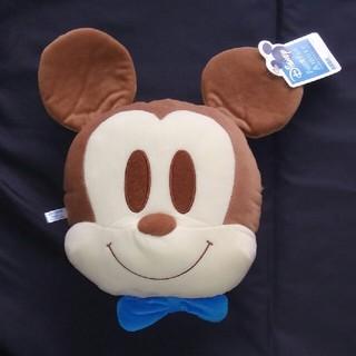 ミッキーマウス - 非売品 ミッキー&ミニー ちびーず フェイス型クッション ミッキー ブルー