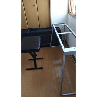 コルグ(KORG)のaquarium様専用  折畳みピアノスタンド&椅子ケースつき(電子ピアノ)
