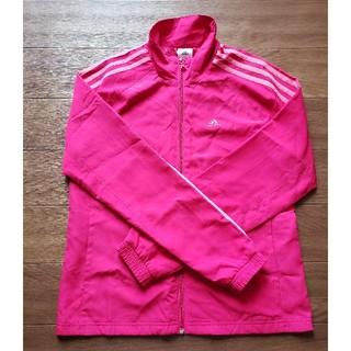 アディダス(adidas)のアディダス  濃いピンク色~赤に近い色 身長152~158(ジャケット/上着)