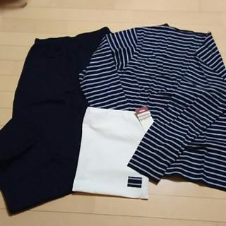 ムジルシリョウヒン(MUJI (無印良品))の綿、天竺ボーダー紳士上下セット(Tシャツ/カットソー(七分/長袖))