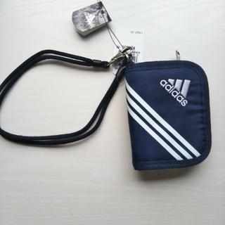 アディダス(adidas)のアディダス ウォレット カレッジネイビー ブラック 2種 新品(折り財布)