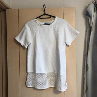 アレキサンダーワン(Alexander Wang)のアレキサンダーワン 裾メッシュスエットカットソー (カットソー(半袖/袖なし))
