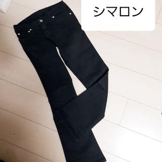 シマロン(CIMARRON)の美品 シマロン パンツ 黒(カジュアルパンツ)
