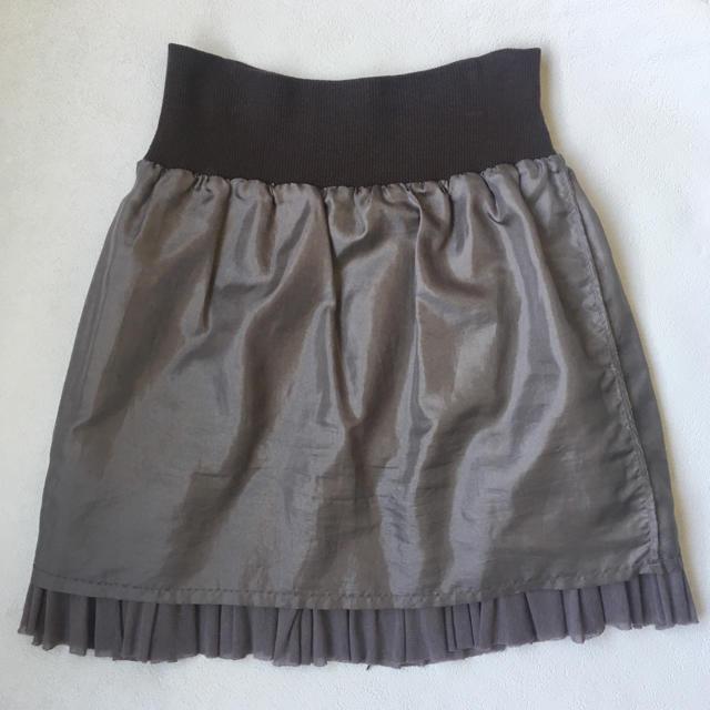 DENDROBIUM(デンドロビウム)のやわらかい素材のひざ上スカート レディースのスカート(ミニスカート)の商品写真