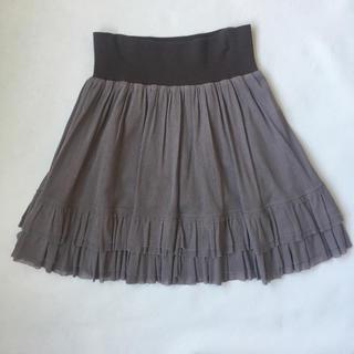 デンドロビウム(DENDROBIUM)のやわらかい素材のひざ上スカート(ミニスカート)
