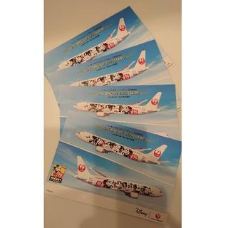 ディズニー(Disney)のJAL ポストカード ミッキー90周年記念 4枚(写真/ポストカード)