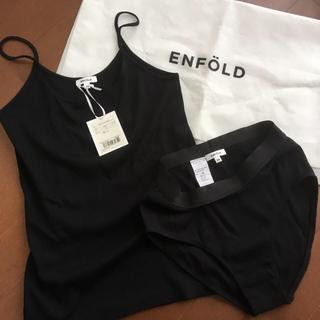 エンフォルド(ENFOLD)の☆新品タグ付き☆エンフォルド キャミソール&ショーツセット ダークネイビー(キャミソール)