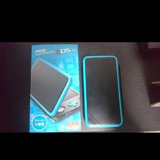 ニンテンドー2DS(ニンテンドー2DS)のNintendo 2DS LL ブラック×ターコイズ 付属品完備 おまけソフト(携帯用ゲーム本体)