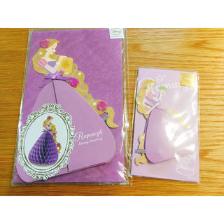 ディズニー(Disney)のラプンツェル メッセージカード 立体 2枚組(カード/レター/ラッピング)