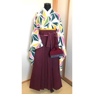 レトロモダン 着物 袴 5点セット(和服/着物)