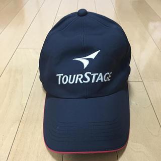 ツアーステージ(TOURSTAGE)のツアーステージ レインキャップ フリーサイズ 黒に赤色ライン(その他)