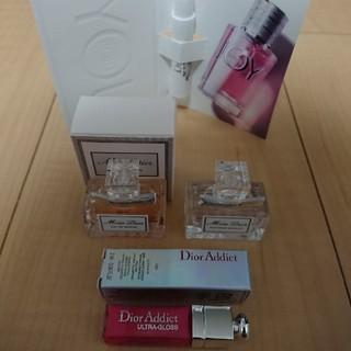 ディオール(Dior)の【新品】Dior ディオール 香水 グロス ミニチュア 4点セット(香水(女性用))