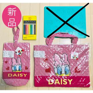 ディズニー(Disney)の女の子 シューズバッグ レッスンバッグ Disneyデイジー 色鉛筆12色 (バッグ/レッスンバッグ)
