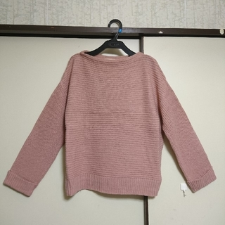 セポ(CEPO)の美品◆くすみピンクニット◆M  袖折り返し cepo(ニット/セーター)