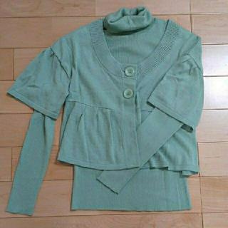 ジオスポーツ(GIO SPORT)のルイシャンタン 青磁色  アンサンブル  40(ニット/セーター)
