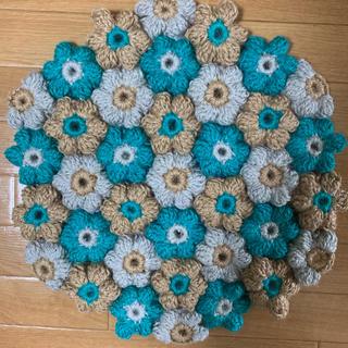 麻のお花のマット