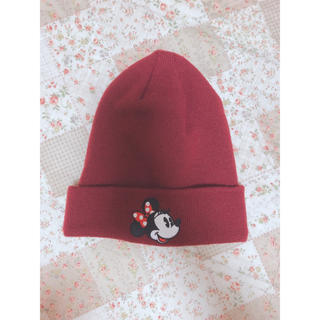 ディズニー(Disney)のディズニー ミニー ニット帽(ニット帽/ビーニー)