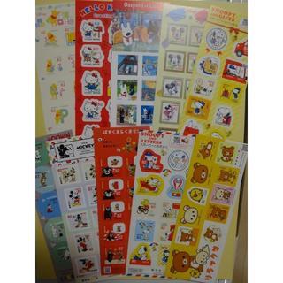 ディズニー(Disney)の82円切手 10シート 8200円分 キャラクター ディズニー、リラックマ、他(切手/官製はがき)