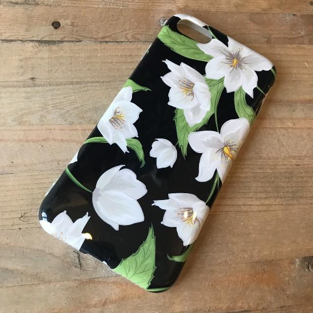 burch アイフォーンx ケース 革製 | ♡新品♡花柄 黒 iPhone7 / 8 ケース アイフォン カバーの通販 by saaa's shop|ラクマ