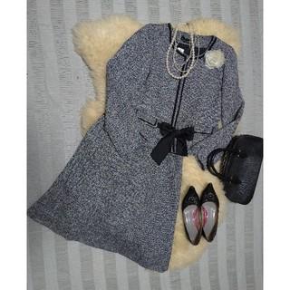 (190)新品♪ 15号 ノーカラーツイードジャケット&スカート 大人可愛い♪(スーツ)