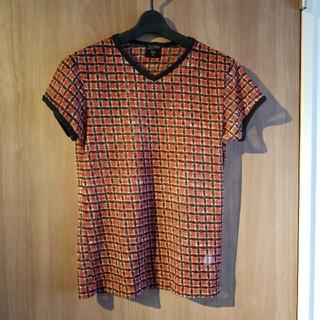 ジャンポールゴルチエ(Jean-Paul GAULTIER)のJean Paul GAULTIER ジャンポール・ゴルチエ 赤黒格子Tシャツ(Tシャツ/カットソー(半袖/袖なし))
