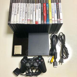 プレイステーション2(PlayStation2)のPS2 SCPH-90000本体+ソフト20本セット(家庭用ゲーム本体)