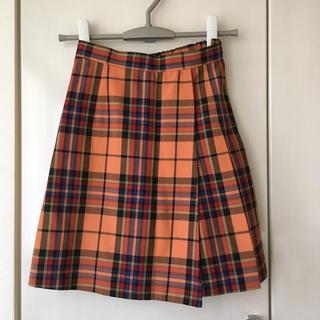 エンスウィート(ensuite)のレナウン ensuite 150 オレンジチェック キュロットスカート(スカート)