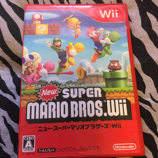 ウィー(Wii)のno.24 Wiiソフト ニュースーパーマリオブラザーズ(家庭用ゲームソフト)