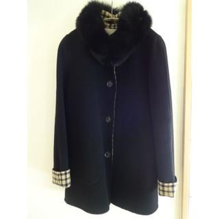 DAKS ダックス ブラックコート Lサイズ(40サイズ)フォックスファー付き