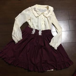 アマベル(Amavel)のアマベル ボルドー スカート(ひざ丈スカート)