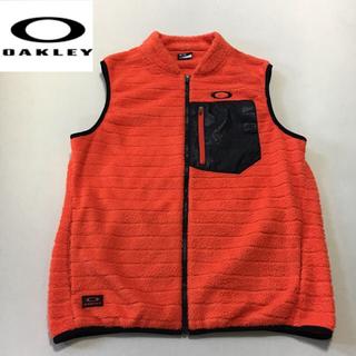 オークリー(Oakley)のオークリーOAKLEY◆フリースベスト オレンジ  Lサイズ(ウエア)
