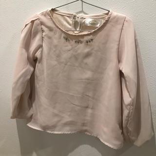 シマムラ(しまむら)の★しまむらピンクトップス100サイズ 上品 おでかけ 女の子 春コーデ ブラウス(Tシャツ/カットソー)