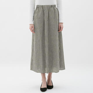 GU リネンブレンドスカート