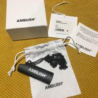 アンブッシュ(AMBUSH)のAMBUSH アンブッシュ ライターケースネックレス BLACK 新品(ネックレス)