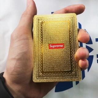 Supreme - supreme カードゲーム トランプ 金色