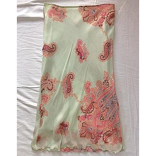 イエナ(IENA)のmade in Italy シルク100% ペイズリースカート(ひざ丈スカート)